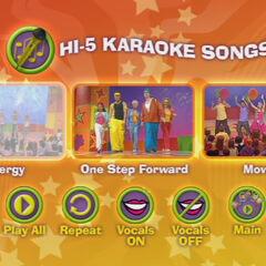 Hi-5 Karaoke Songs