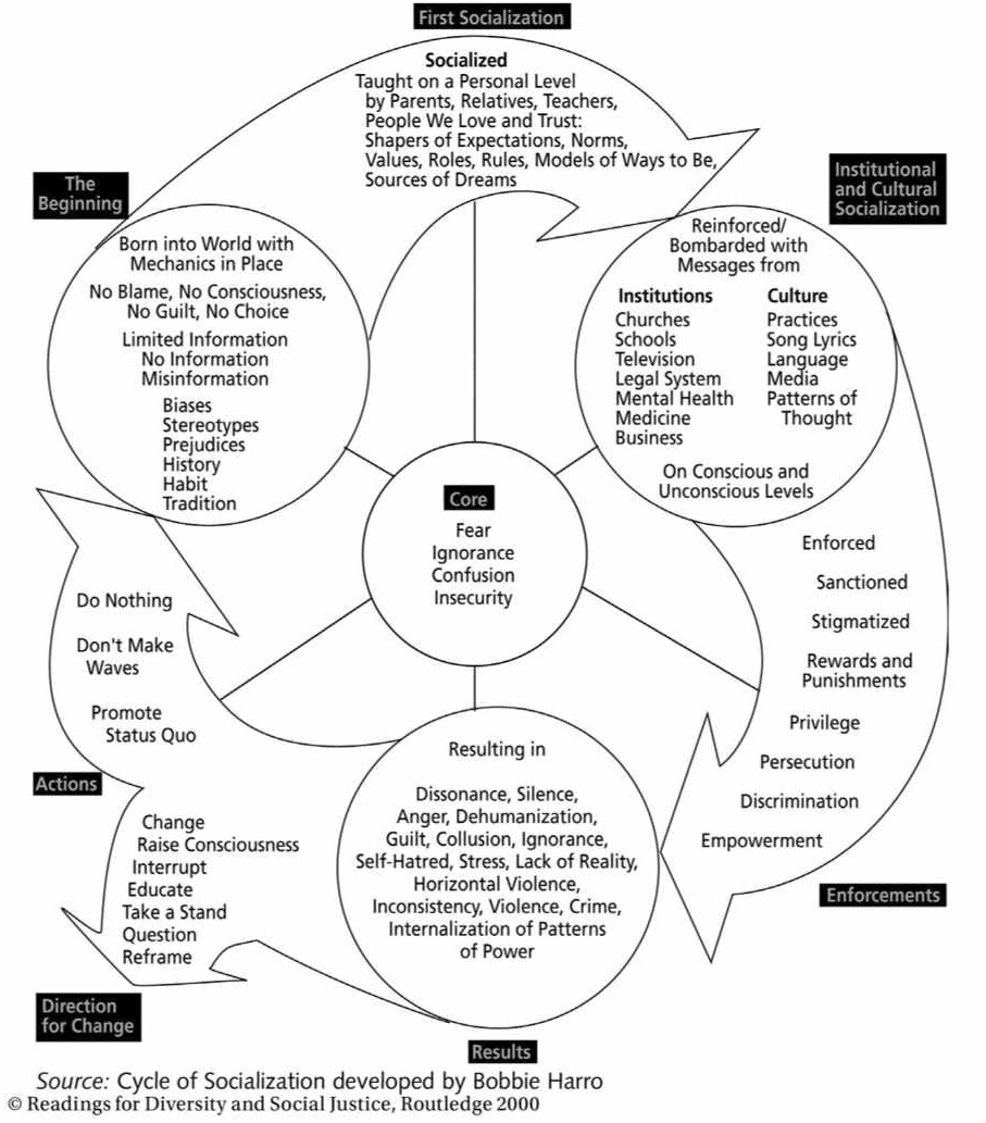 the cycles of socialization and liberation according to bobbie harro Bobby kent essay examples  the cycles of socialization and liberation according to bobbie harro  the cycles of socialization and liberationmodern day.