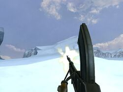 Bren Mk. II firing (Iceberg)