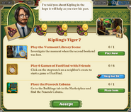 Quest Kipling's Tiger 7-Tasks