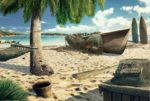 Scene Tropical Beach-icon