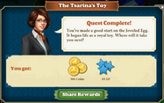Quest The Tsarina's Toy-Rewards