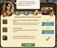 Quest A Secret Past-Part Two 3 of 8-Tasks
