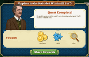Quest Explore to the Secluded Windmill 1-Rewards