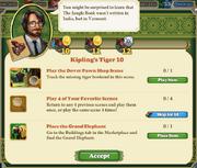 Quest Kipling's Tiger 10-Tasks