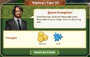 Quest Kipling's Tiger 10-Rewards