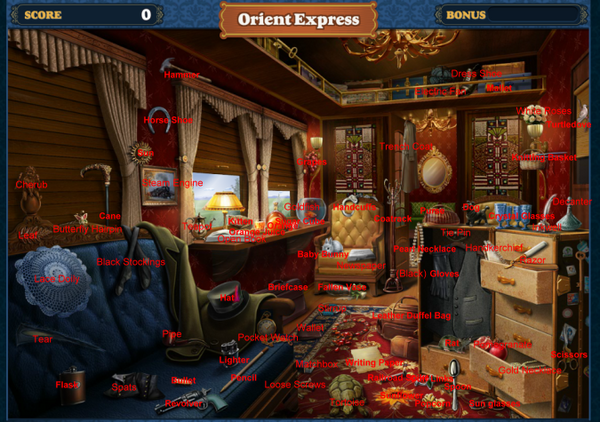 Scene Orient Express-Map