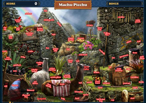 FastFind Scene Machu Picchu-Map