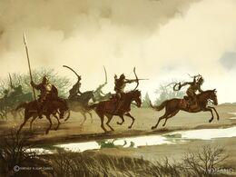 Guerreros Dothraki by Tomasz Jedruzek, Fantasy Flight Games©