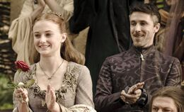 Sansa Stark y Petyr Baelish HBO