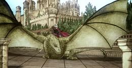 Rhaenyra y Syrax