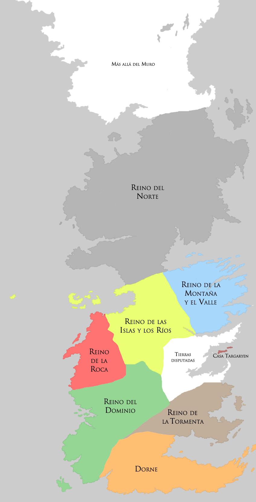 Siete Reinos Hielo Y Fuego Wiki Fandom Powered By Wikia