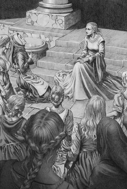 La reina Alysanne en una audiencia de mujeres by Douglas Wheatley©