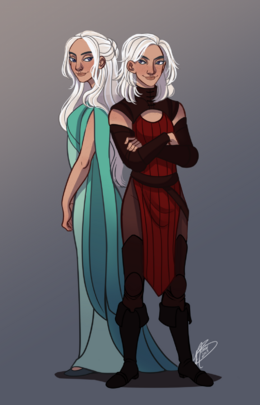Baela and Rhaena Targaryen by Naomi©