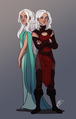 Baela and Rhaena Targaryen by Naomi©