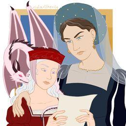 Jeyne Arryn y Rhaena Targaryen by Riotarttherite