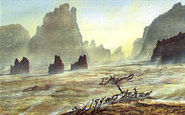 Desolate Canyon by Franz Miklis, Fantasy Flight Games©