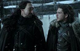 Jon Nieve y Benjen Stark HBO