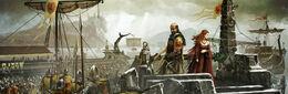 Stannis en Rocadragón by Tomasz Jedruzek, FFG©