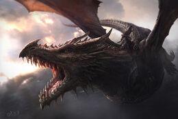 Aegon I Targaryen en Balerion by Jordi González©