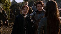Robb presenta a Talisa ante Catelyn HBO