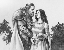Cregan Stark y Alysanne Blackwood by Douglas Wheatley©