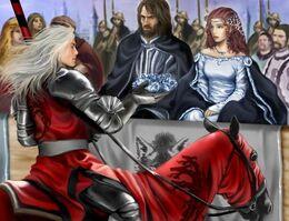 Rhaegar coronando a Lyanna Stark by M. Luisa Giliberti©