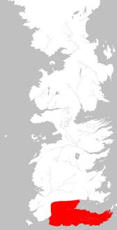 Mapa Dorne extensión