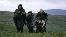 Osha, Hodor, Bran y Rickon HBO