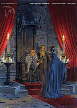 Lord Walder Frey and Catelyn by Ted Nasmith©