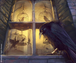 Oldtown Raven by Caroline Eade, Fantasy Flight Games©