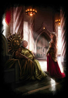The meeting between Meria Martell and Rhaenys Targaryen by Magali Villeneuve©