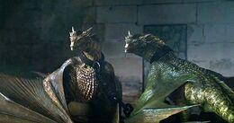 Viserion y Rhaegal encerrados HBO