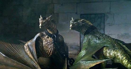 Archivo:Viserion y Rhaegal encerrados HBO.jpg