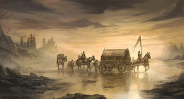 Crossing the Mummer's Ford by Juan Carlos Barquet, Fantasy Flight Games©