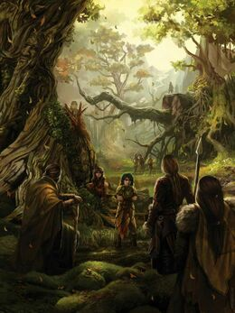The children of the forest and the First Men forming the Pact by Magali Villeneuve©