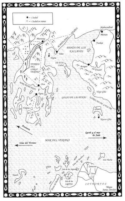 Mapa Bahía de los Esclavos TdE