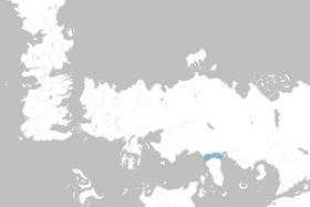 Mapa Estrecho de Qarth
