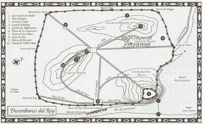 Mapa Desembarco del Rey CdR