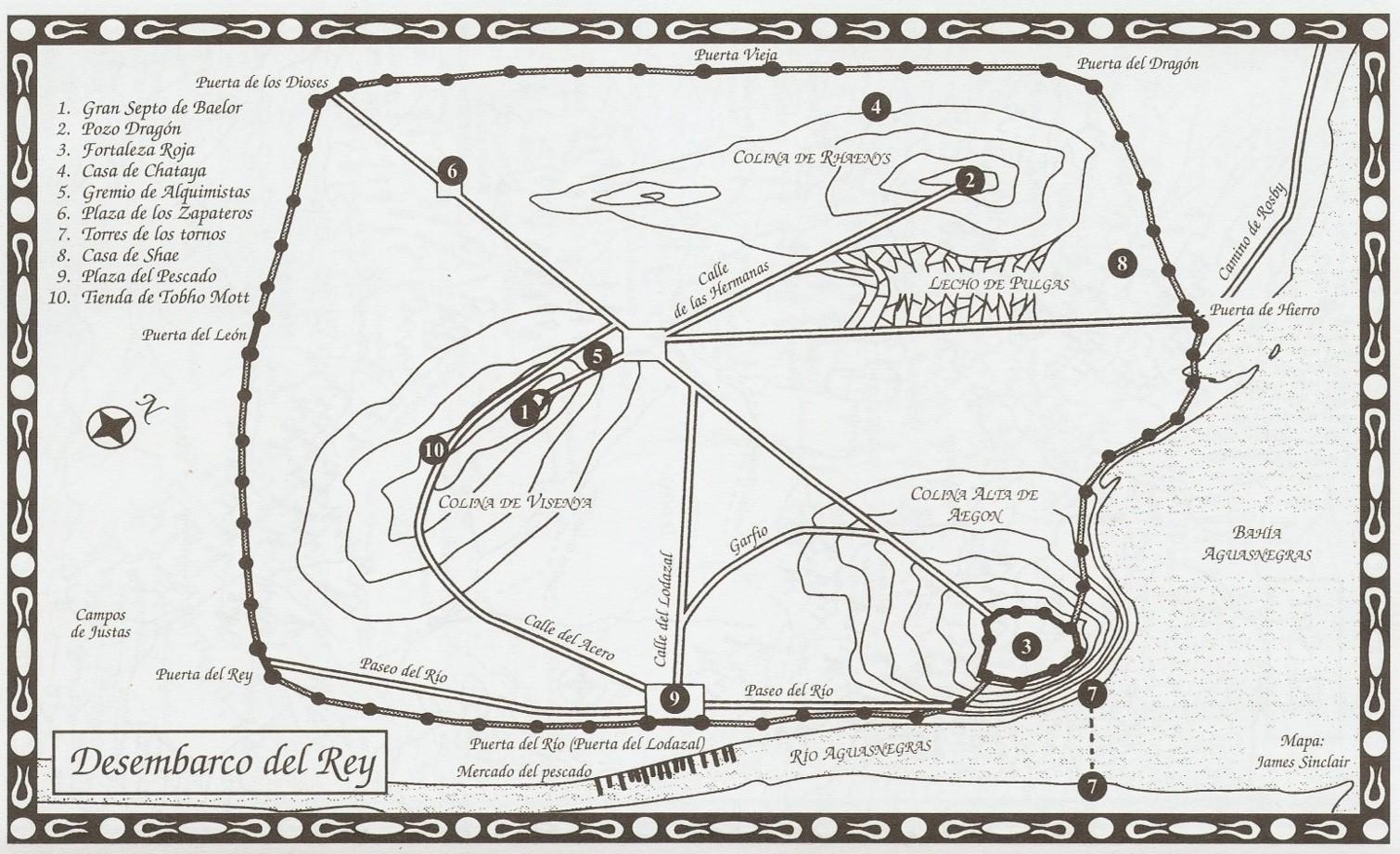 Desembarco Del Rey Mapa.Choque De Reyes Mapa Desembarco Del Rey Hielo Y Fuego Wiki