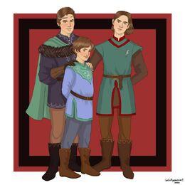 Jacaerys, Lucerys, Joffrey by Chillyravenart©