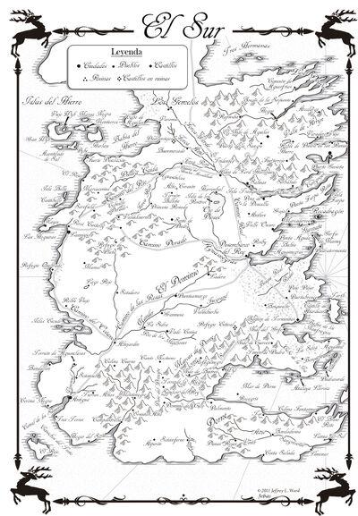 Mapa El Sur Danza de Dragones