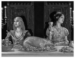 Rhaenyra y Alicent by Douglas Wheatley©