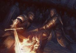 Beric vs The Hound by Joel Holtzman©
