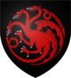 Casa Targaryen estandarte