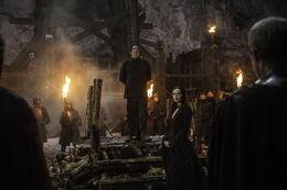 Melisandre sacrificio Mance HBO