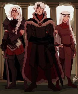 Aegon, Visenya and Rhaenys by Naomi©