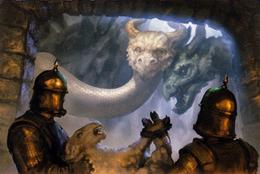 Harried by Dragons by Lukasz Jaskolski, Fantasy Flight Games©
