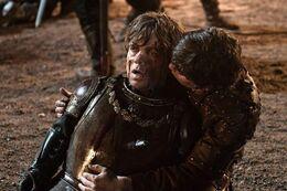 Podrick salvando a Tyrion HBO