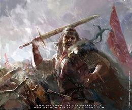 Mercenario de Bosquespeso by Nacho Molina, Fantasy Flight Games©